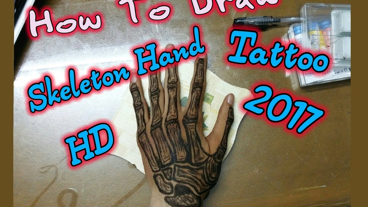 skeleton hand tattoo speed drawing 2017 hd chabrouch youtube. Black Bedroom Furniture Sets. Home Design Ideas