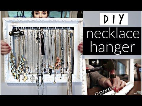 Diy Necklace Hanger Easy Cheap Kristina Hailey Youtube