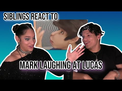 Siblings React To NCT's Mark Laughing At Lucas For (almost) 6 Minutes | REACTION