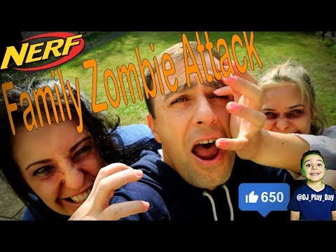 Mum and Sister zombie attack | DJ pretends to fight his own family || Tubers FunFam