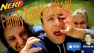Mum and Sister zombie attack | DJ pretends to fight his own family