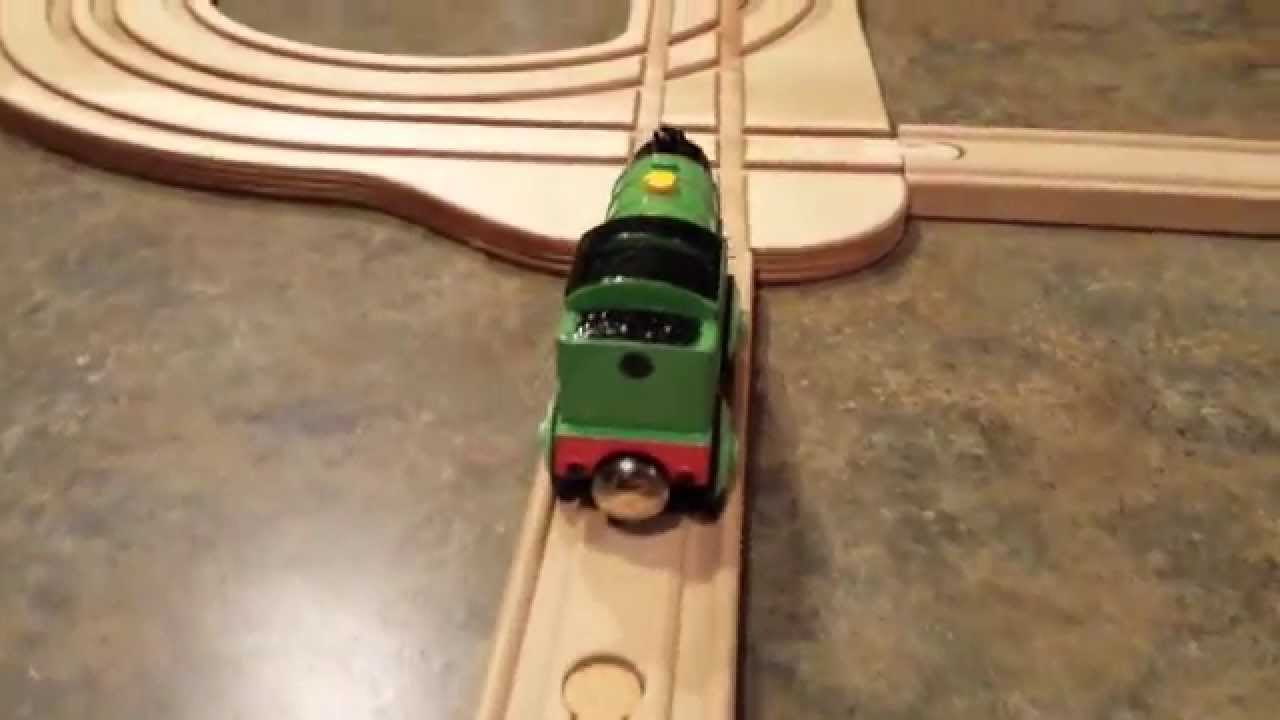 Custom Wooden Spiral Train Track - YouTube