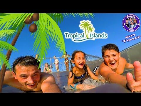 Familienspaß TROPICAL ISLANDS mit Übernachtung | MEGA WASSERSPAß! | FAMILY FUN