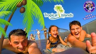 Repeat youtube video Familienspaß TROPICAL ISLANDS mit Übernachtung | MEGA WASSERSPAß! | FAMILY FUN