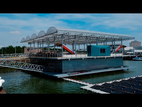 Floating dairy farm debuts in the Netherlands