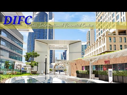 Dubai International Financial Centre [4K] Walking Tour   Central Park to DIFC Gate Avenue