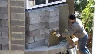 Уникальная кладка шлакоблока! Не повторять!(Оказывается кладку шлакоблока можно делать на так как все, что и делают строители в г.Сочи., 2013-10-20T20:52:38.000Z)