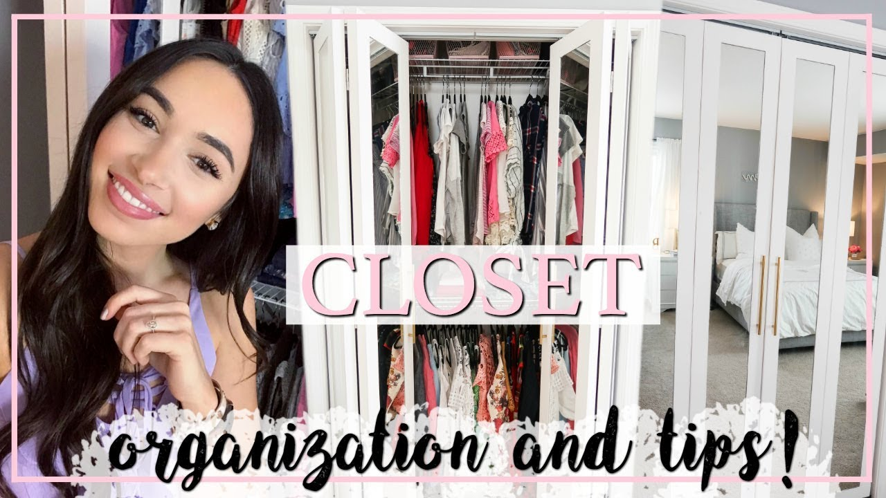 SMALL CLOSET ORGANIZATION IDEAS! MORE STORAGE WITH LESS SPACE! | Alexandra  Beuter