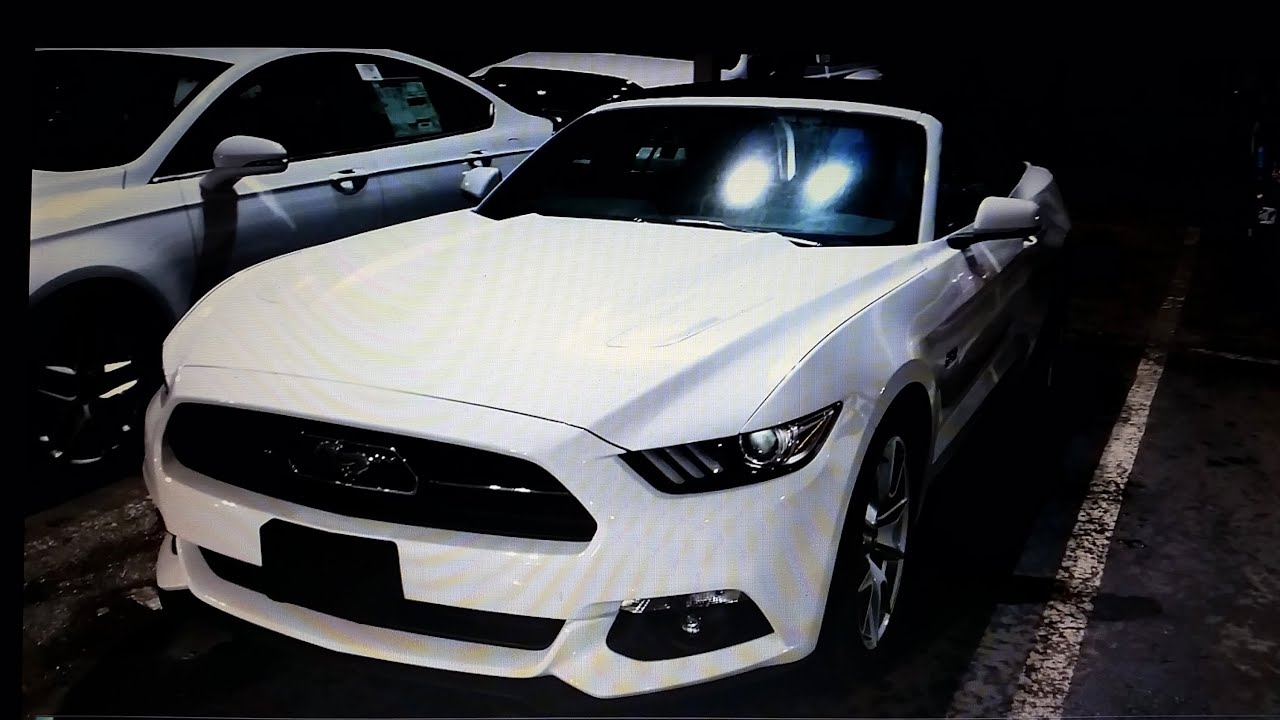 2015 ford mustang gt convertible quick tour - 2015 Ford Mustang White Convertible