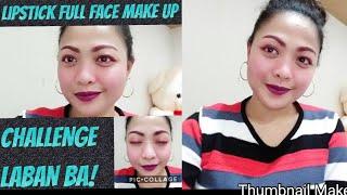 Lipstick FULL FACE MAKE UP CHALLENGE| JHEN CY