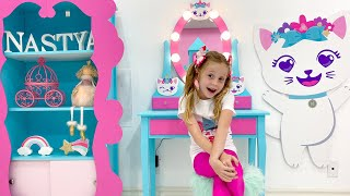 Nastya and her new DIY room in the style of Like Nastya