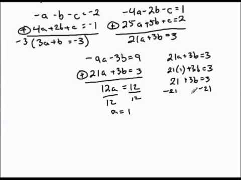Finding quadratic function given three points on graph.mp4 - YouTube