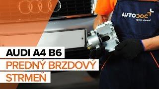 Ako vymeniť Opravná Sada Brzdového Strmeňa na AUDI A4 (8E2, B6) - video sprievodca