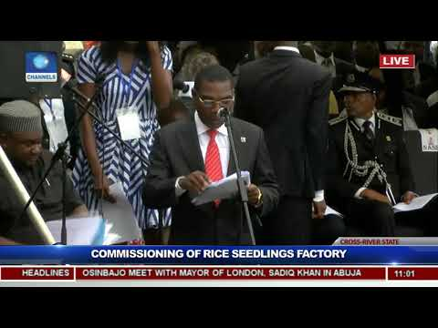 President Buhari Commissions Rice Seedling Factory In Calabar Pt.1