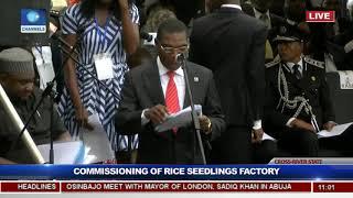 Gambar cover President Buhari Commissions Rice Seedling Factory In Calabar Pt.1