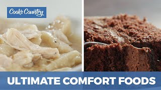 How to Make the Ultimate Comfort Foods: Wellesley Fudge Cake & Chicken and Pastry