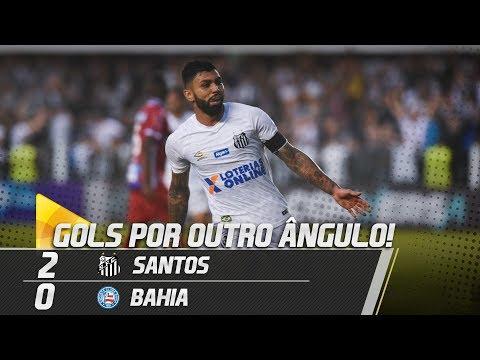 Santos 2 x 0 Bahia | GOLS POR OUTRO ÂNGULO | Brasileirão (25/08/18)