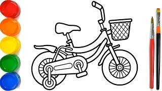Download Glitter Bicycle Coloring Pages For Kids | Sepeda Halaman Mewarnai | Como desenhar Bicicleta Mp3 and Videos