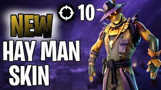NEW HAY MAN SKIN VICTORY ROYALE!! (FORTNITE BATLLE ROYALE)