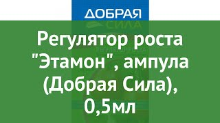 Регулятор роста Этамон, ампула (Добрая Сила), 0,5мл обзор DS24080051 производитель РУСИНХИМ (Россия)