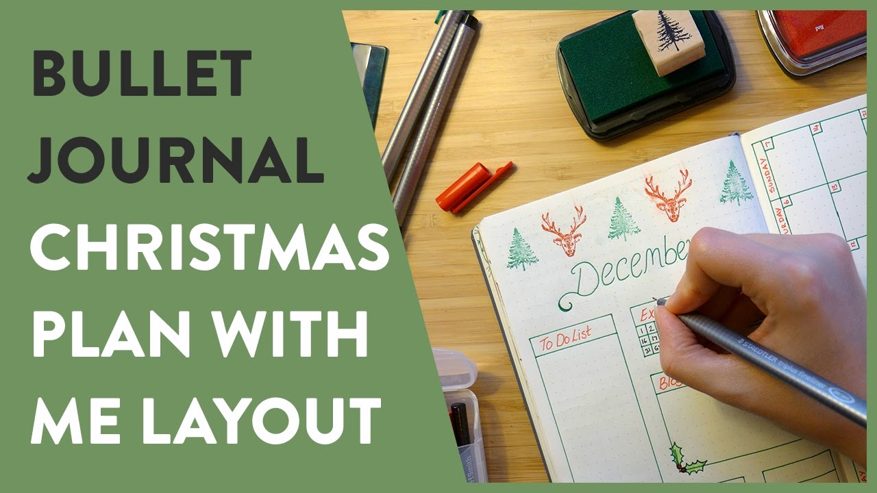 Bullet Journal December Christmas Layout Plan With Me