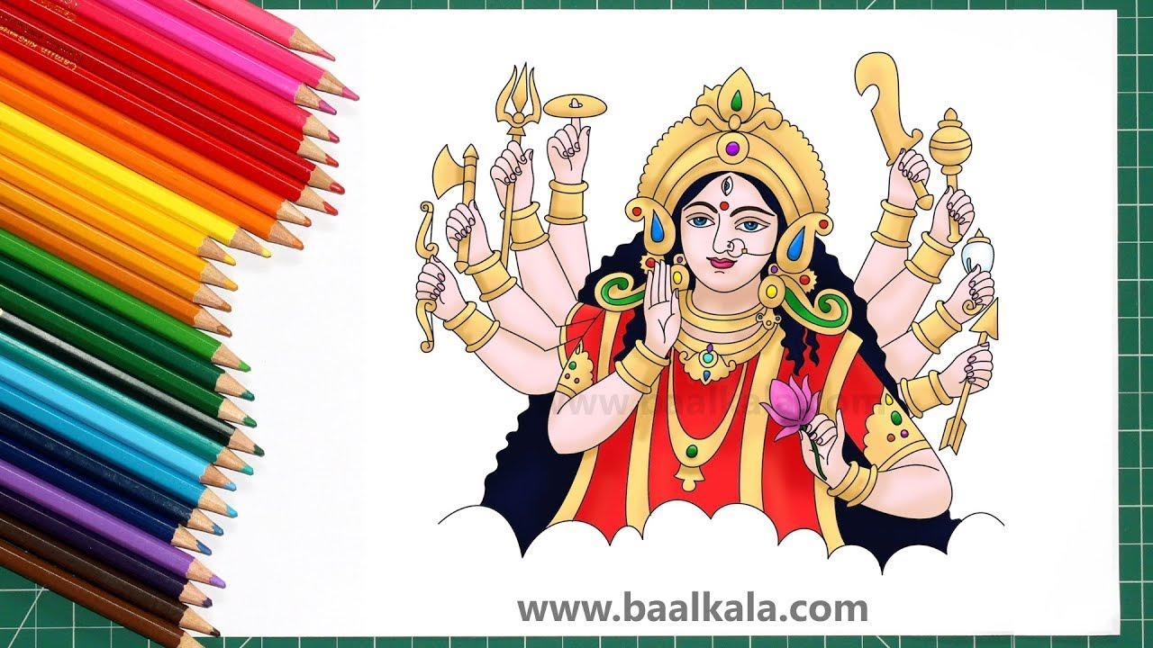 Durga durgapuja durgadrawing