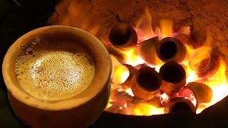 TANDOORI CHAI | HOT LAVA TEA | Street Food of Hyderabad Pakistan | Koyla Chai | at Chai Mawaali
