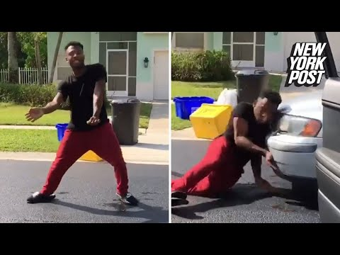 None - Florida man hit by car doing Keke Challenge!