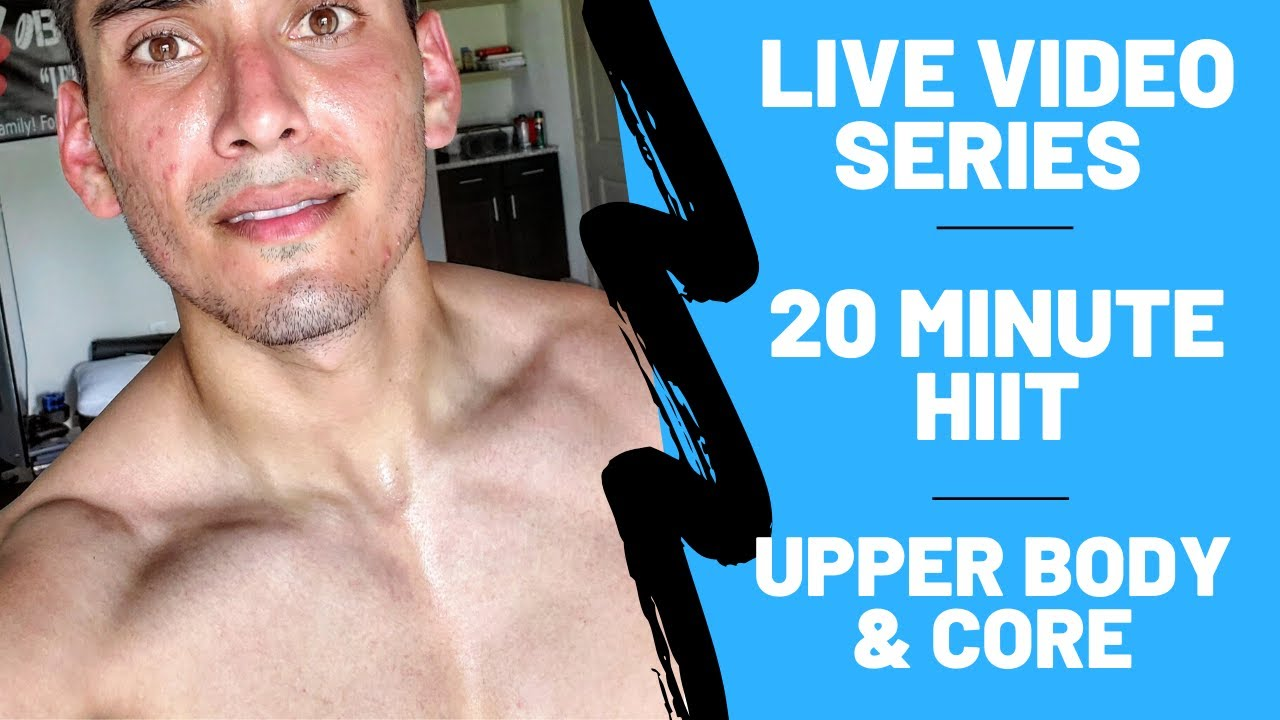 20 minute Upper body workout & 6 pack abs | at home & equipment free!