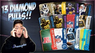 13 *DIAMOND* PLAYER PULLS!! MADDEN OVERDRIVE 85 VARIETY PACK OPENING!! FLASHBACK, PRIMETIME & MORE!!