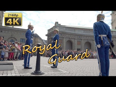 Changing of the Guard in Stockholm - Stockholm 4K Travel Channel