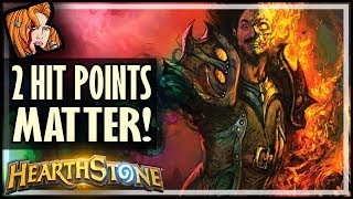 TWO HP Mattered This Time! - Rise of Shadows Hearthstone