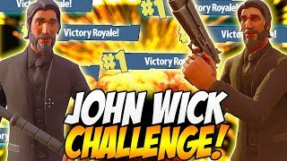 "FORTNITE BATTLE ROYALE JOHN WICK CHALLENGE! | ""Can We Win This Challenge First Try?"""