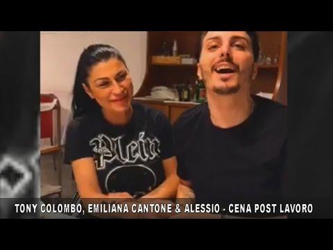 TONY COLOMBO, EMILIANA CANTONE e ALESSIO - CENA POST LAVORO