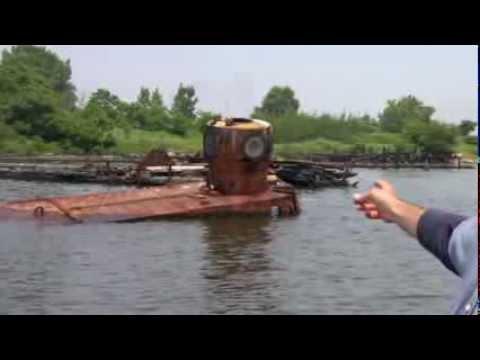 The Yellow Submarine at Coney Island Creek