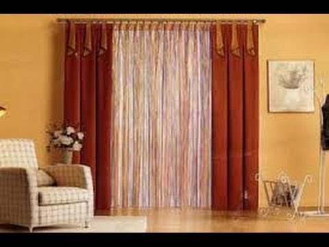 Como hacer cortinas elegantes para salas 9 youtube for Como poner cortinas