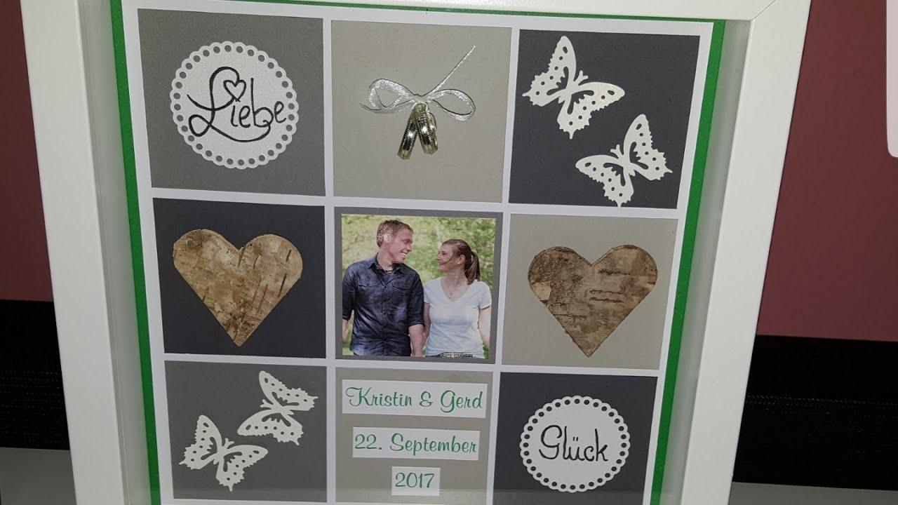 Tutorial IKEA-Ribba-Rahmen#Hochzeitsgeschenk - YouTube