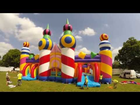 The World's Biggest Bouncy Castle Inflation Time Lapse