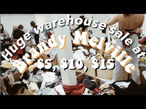 CRAZY Brandy Melville Warehouse Sale!
