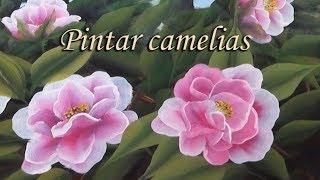 Pintar camelias. Painting camellias