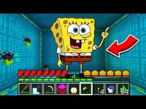 How to play SPONGEBOB in Minecraft! Real life family SPONGEBOB! Battle NOOB VS PRO Animation