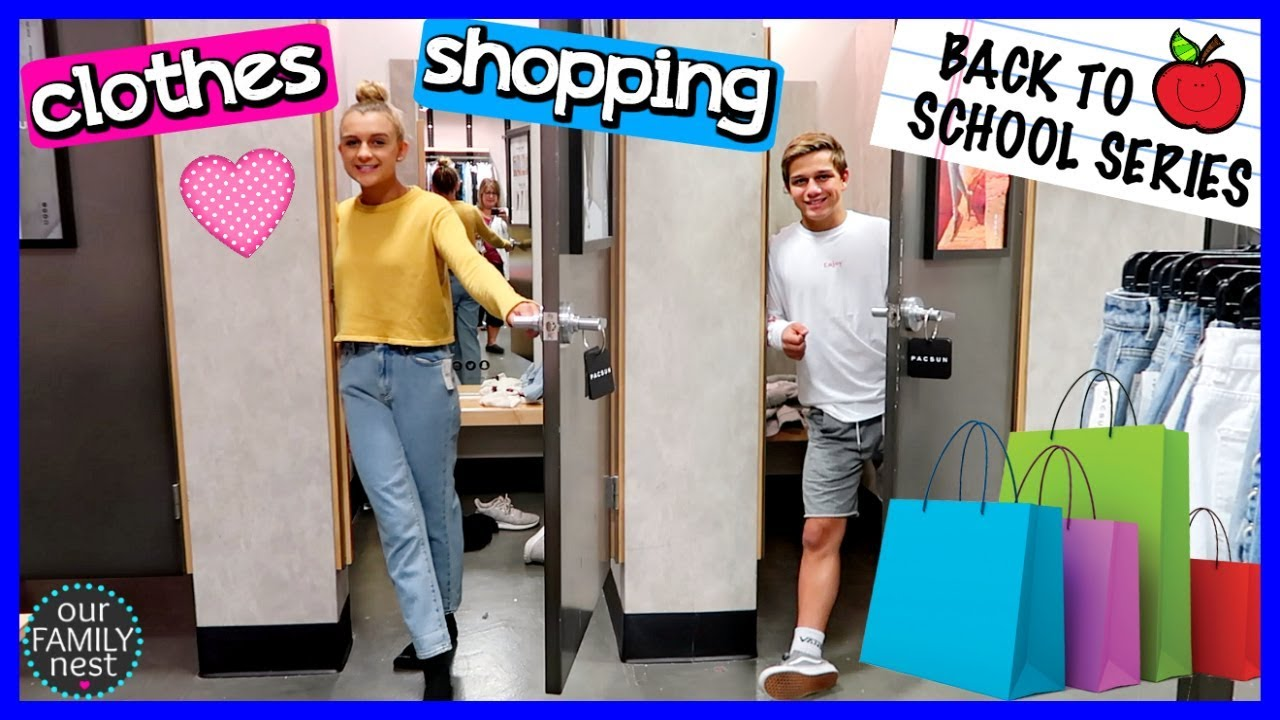 BACK TO SCHOOL CLOTHES SHOPPING! TRYING ON NEW OUTFITS! 1