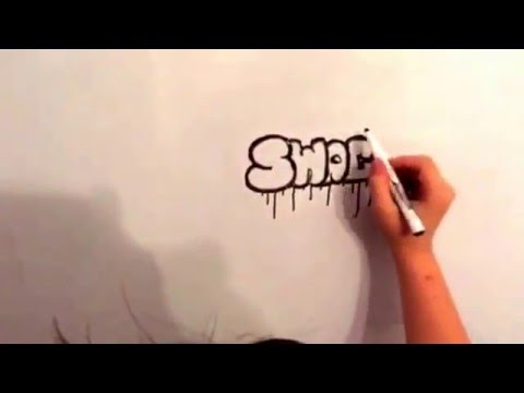tutoriel comment dessiner des tags swag youtube. Black Bedroom Furniture Sets. Home Design Ideas