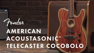The Making of The American Acoustasonic Series Telecaster Cocobolo | Fender