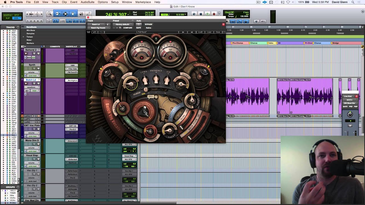 mixing vocals with waves butch vig vocals plugin part 1 youtube. Black Bedroom Furniture Sets. Home Design Ideas