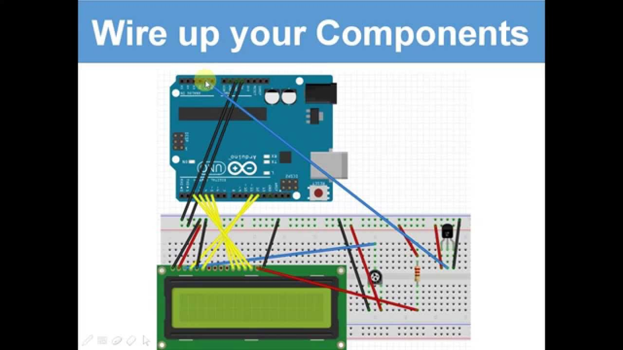 Temperature sensor on lcd display ultimate arduino