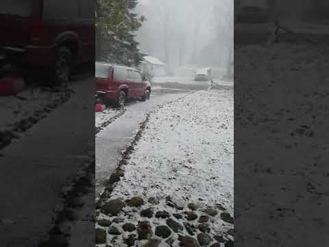 First snow in Michigan 2017