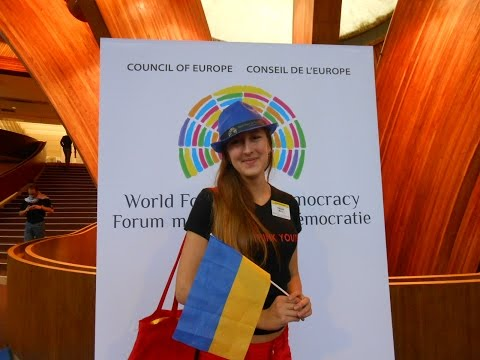 Ukrainian flag in the Council of Europe