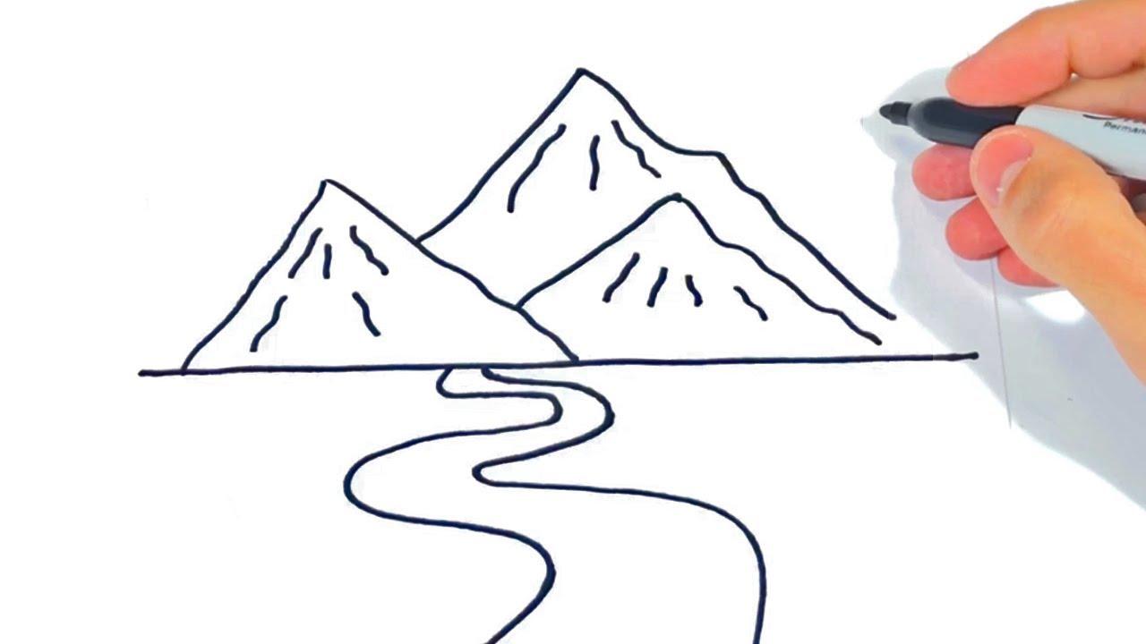 Cómo Dibujar Unas Montañas Paso A Paso Dibujo De Montaña