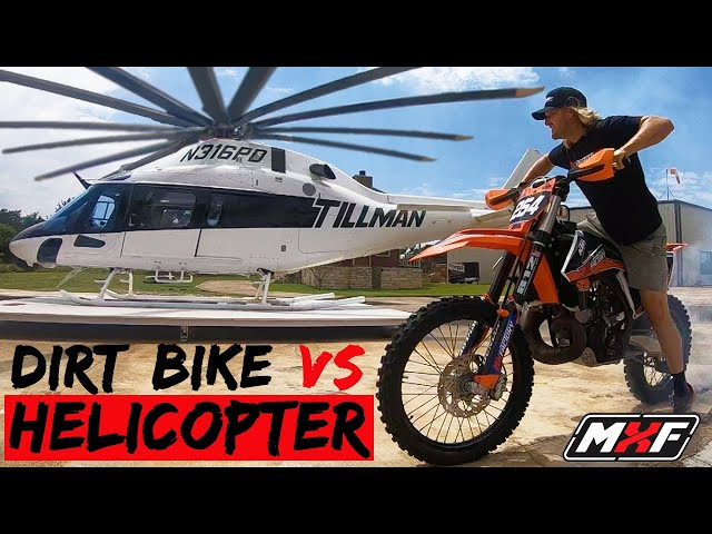 2 Stroke Dirt Bike or $2 Million Dollar Turbine Helicopter... Which Sounds Better??